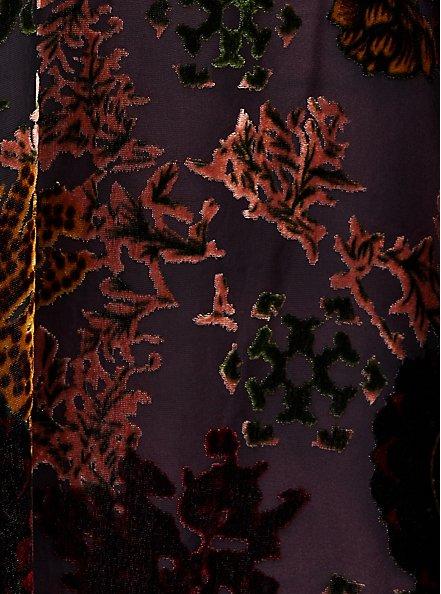 Burnout Ruana - Floral Black & Wine , , alternate