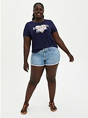 #TorridStrong Everyday Tee - Signature Jersey Blessed Mama Navy, PEACOAT, alternate