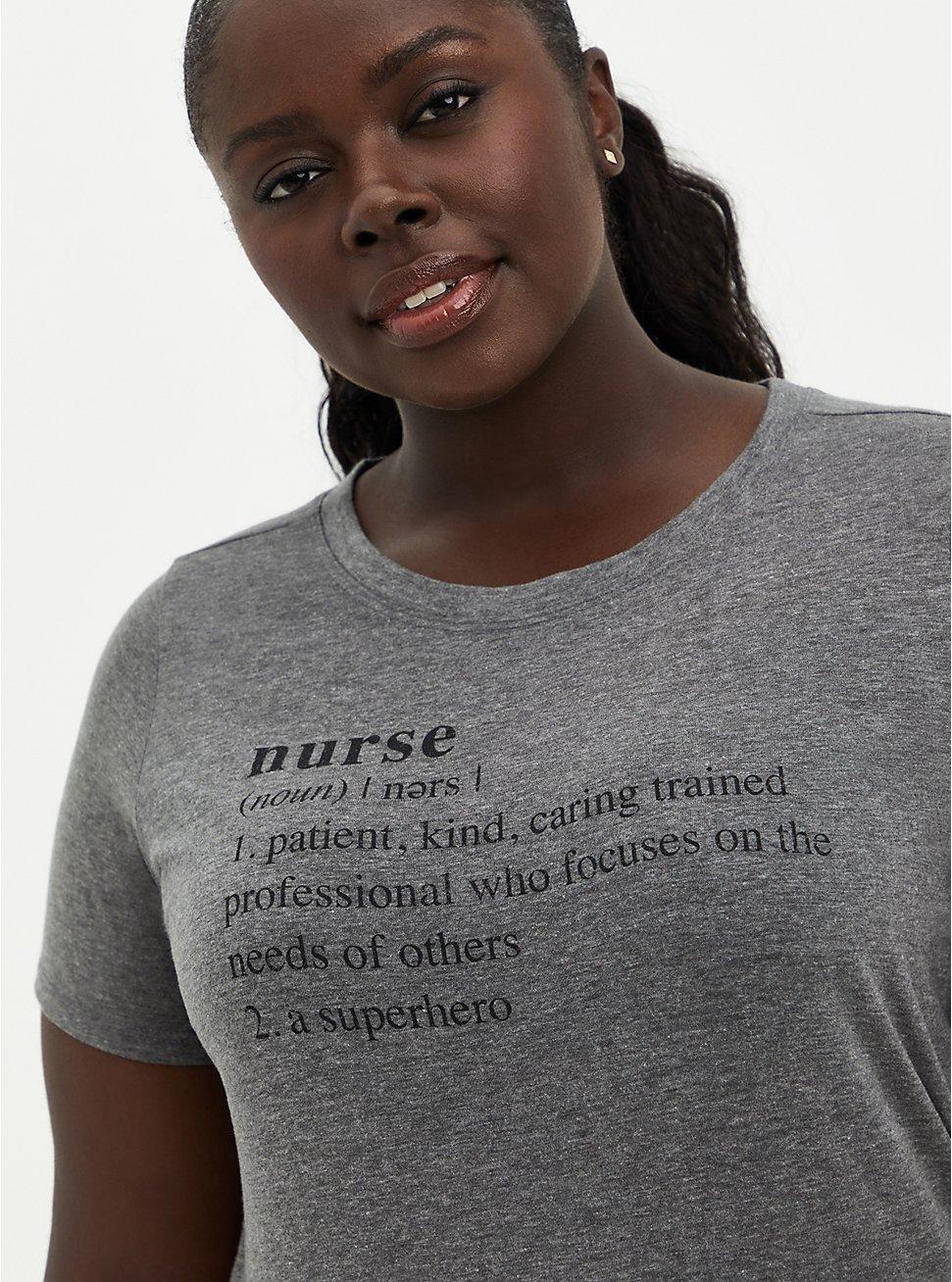#TorridStrong Slim Fit Tee - Signature Jersey Nurses Grey, MEDIUM HEATHER GREY, hi-res