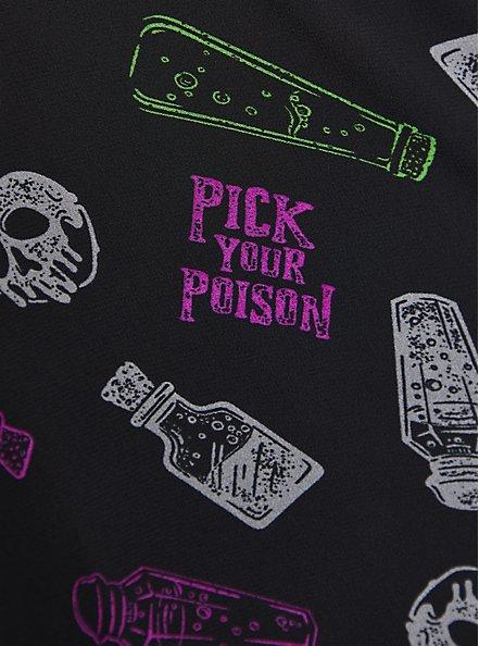 Plus Size Button Down Tunic - Disney Villains Poison, MULTI, alternate