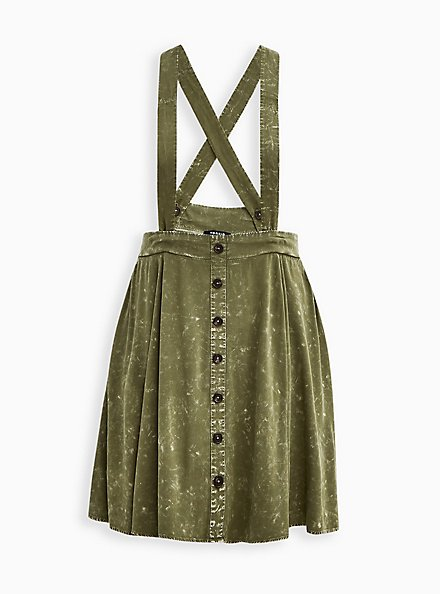 Skirtall - Challis Mineral Wash Olive, DUSTY OLIVE, hi-res