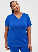 #TorridStrong Waistband Scrub Top - Cupro Blue, , hi-res