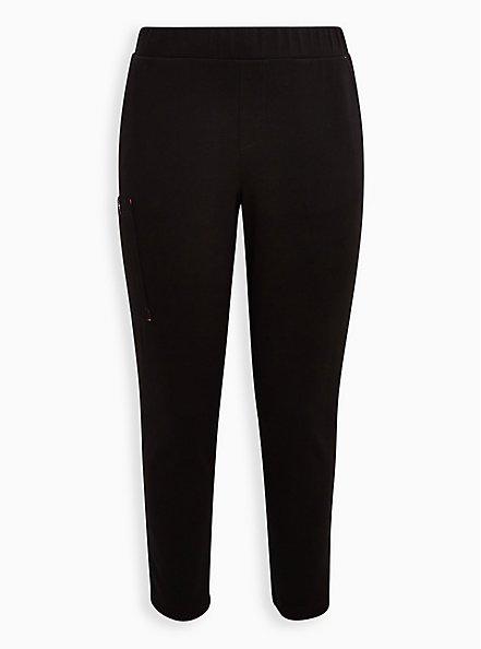 #TorridStrong Straight Leg Scrub Pant - Cupro Black , DEEP BLACK, hi-res