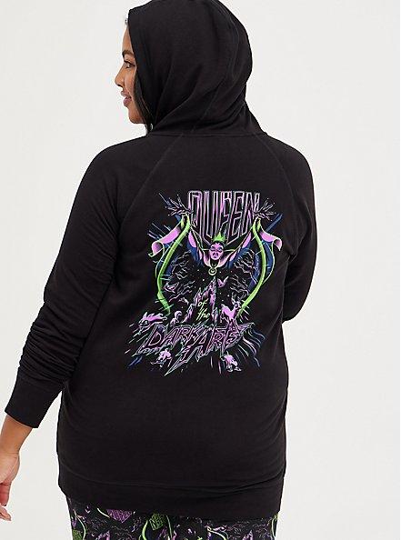 Zip-Up Active Hoodie - Disney Villains Evil Queen, DEEP BLACK, hi-res