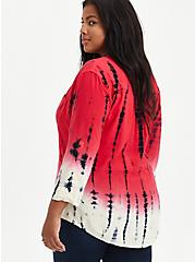 Harper - Challis Tie Dye Red Pullover Blouse, TIE DYE, alternate