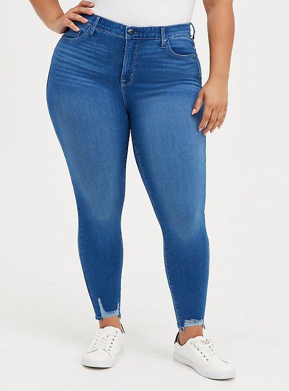 Sky High Skinny Jean - Premium Stretch Eco Medium Wash, , hi-res