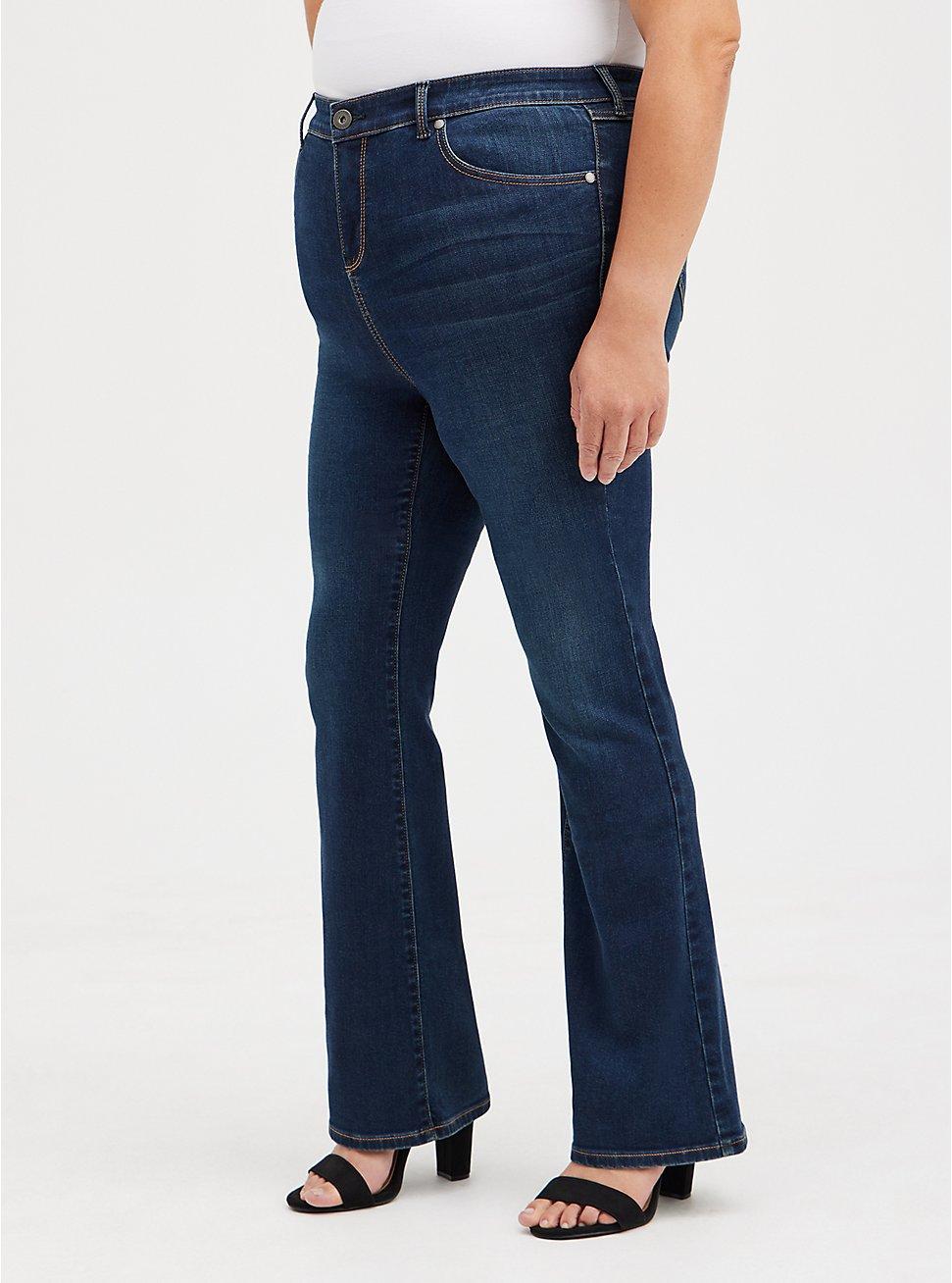 Midfit Slim Boot Jean - Super Soft Dark Wash, BASIN, hi-res