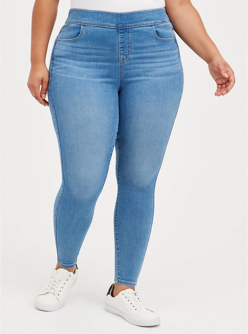 Lean Jean - Super Soft Medium Wash, HIP HUGGER, hi-res