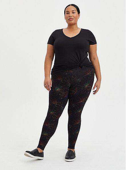 Premium Legging - Flocked Mesh Web Rainbow, MULTI, hi-res