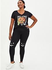 Premium Legging - Glow In The Dark Jack-O'-Lantern Black, BLACK, alternate