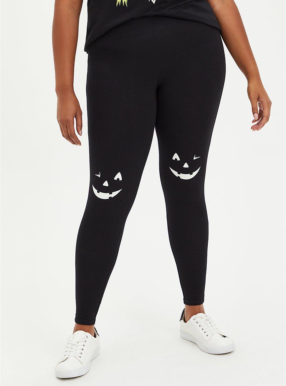 Premium Legging - Glow In The Dark Jack-O'-Lantern Black, BLACK, hi-res