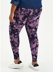 Premium Legging - Marble Purple, PURPLE, alternate