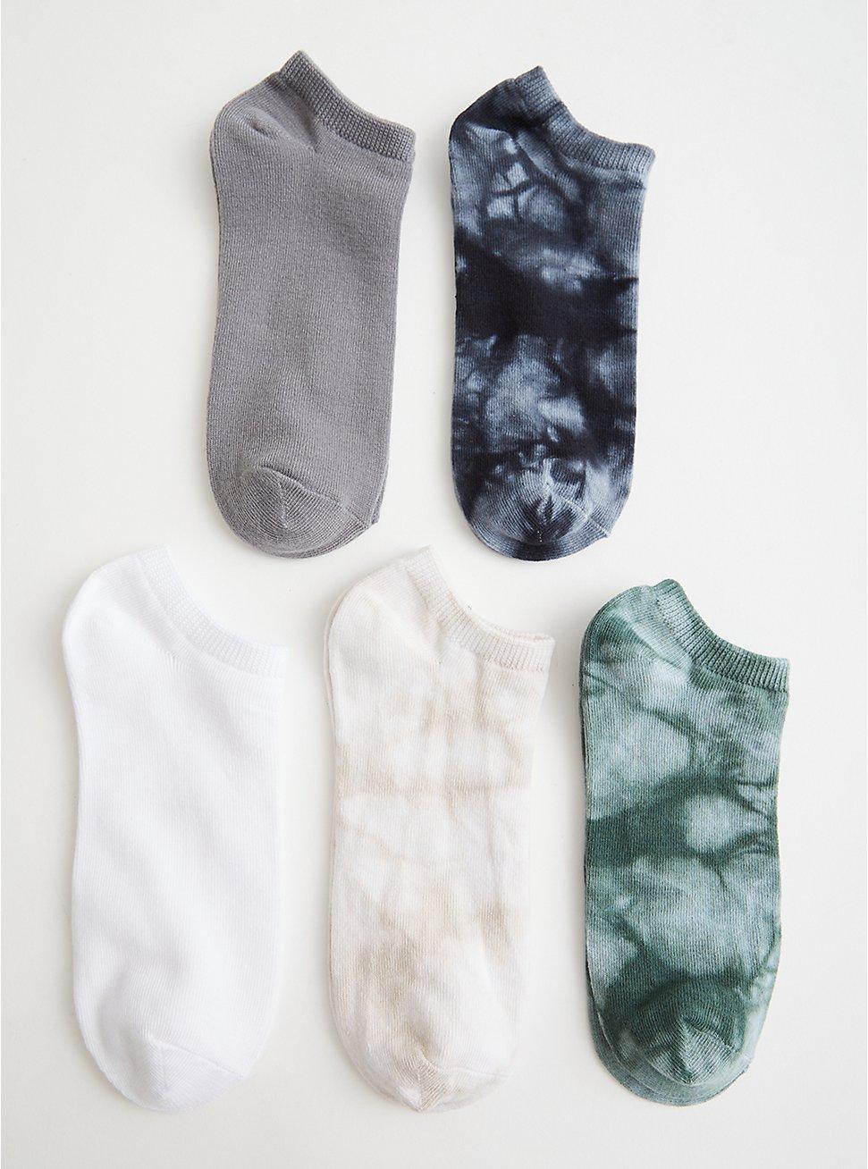 Multi Tie Dye No Show Socks - Pack of 5, TIE DYE, hi-res