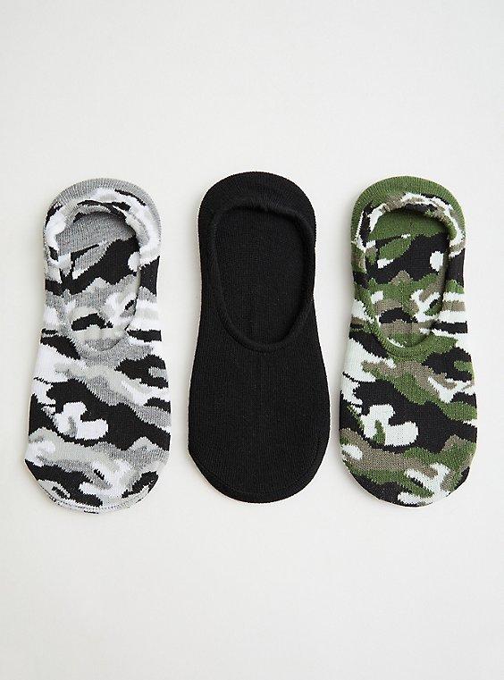 Multi Camo Ped Socks - Pack of 3, CAMO, hi-res