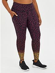 Active Wicking Full Length Legging - Ombre Leopard , LEOPARD, hi-res