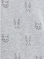 Plus Size Raglan Sweatshirt - Lightweight French Terry Animals Heather Grey , OTHER PRINTS, alternate