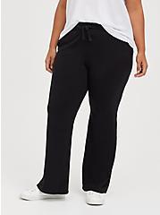 Plus Size Flare Beach Pant - Everyday Fleece Black, DEEP BLACK, hi-res