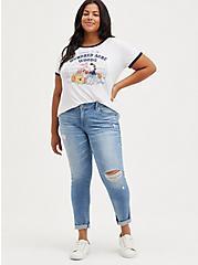 Plus Size Disney Winnie the Pooh Friends Ringer, CLOUD DANCER, alternate