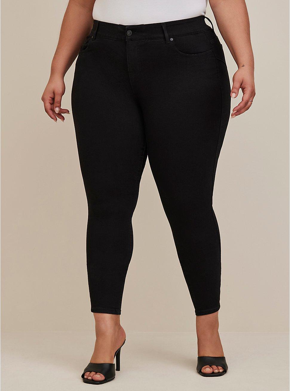 Sky High Skinny Jean - Premium Stretch Black, DEEP BLACK, hi-res