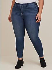 Sky High Skinny Jean - Premium Stretch Dark Wash, BLUE DREAM, hi-res