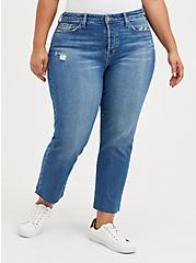 Stovepipe Straight Jean - Classic Denim Medium Wash, BLUE BLAZER, hi-res