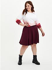 Circle Mini Skirt - Super Soft Burgundy, , alternate