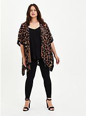 Burnout Velvet Kimono - Leopard, ANIMAL, alternate
