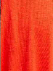 Sweetheart Fit & Flare Ribbed Midi Dress - Orange, GRENADINE, alternate