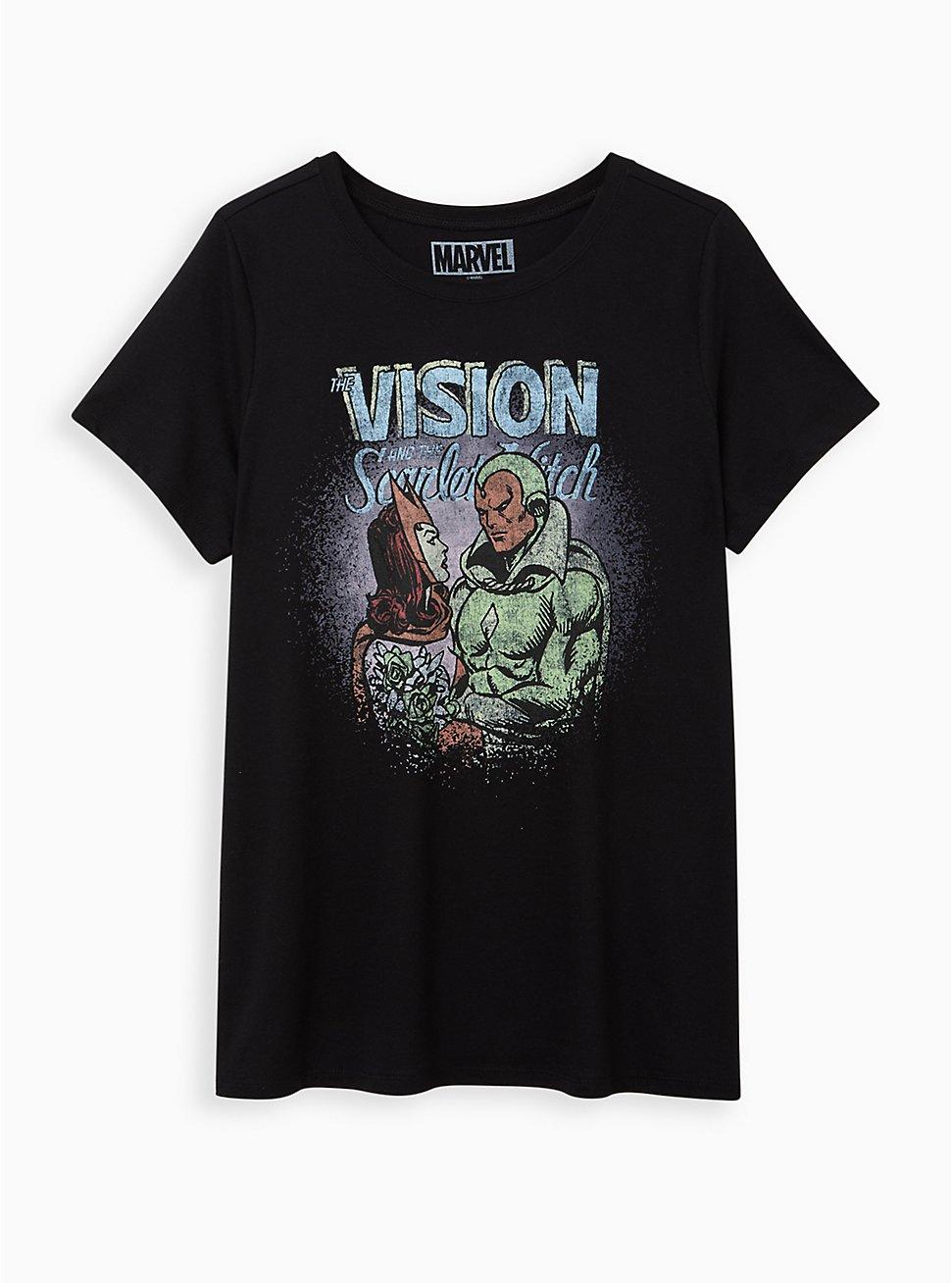 Slim Fit Crew Tee - Vision & Scarlet Witch Black, DEEP BLACK, hi-res