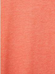 Girlfriend Tee - Signature Jersey Rust , BROWN, alternate