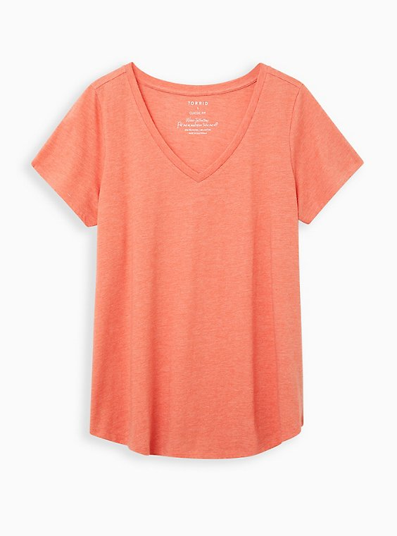 Girlfriend Tee - Signature Jersey Rust , BROWN, hi-res