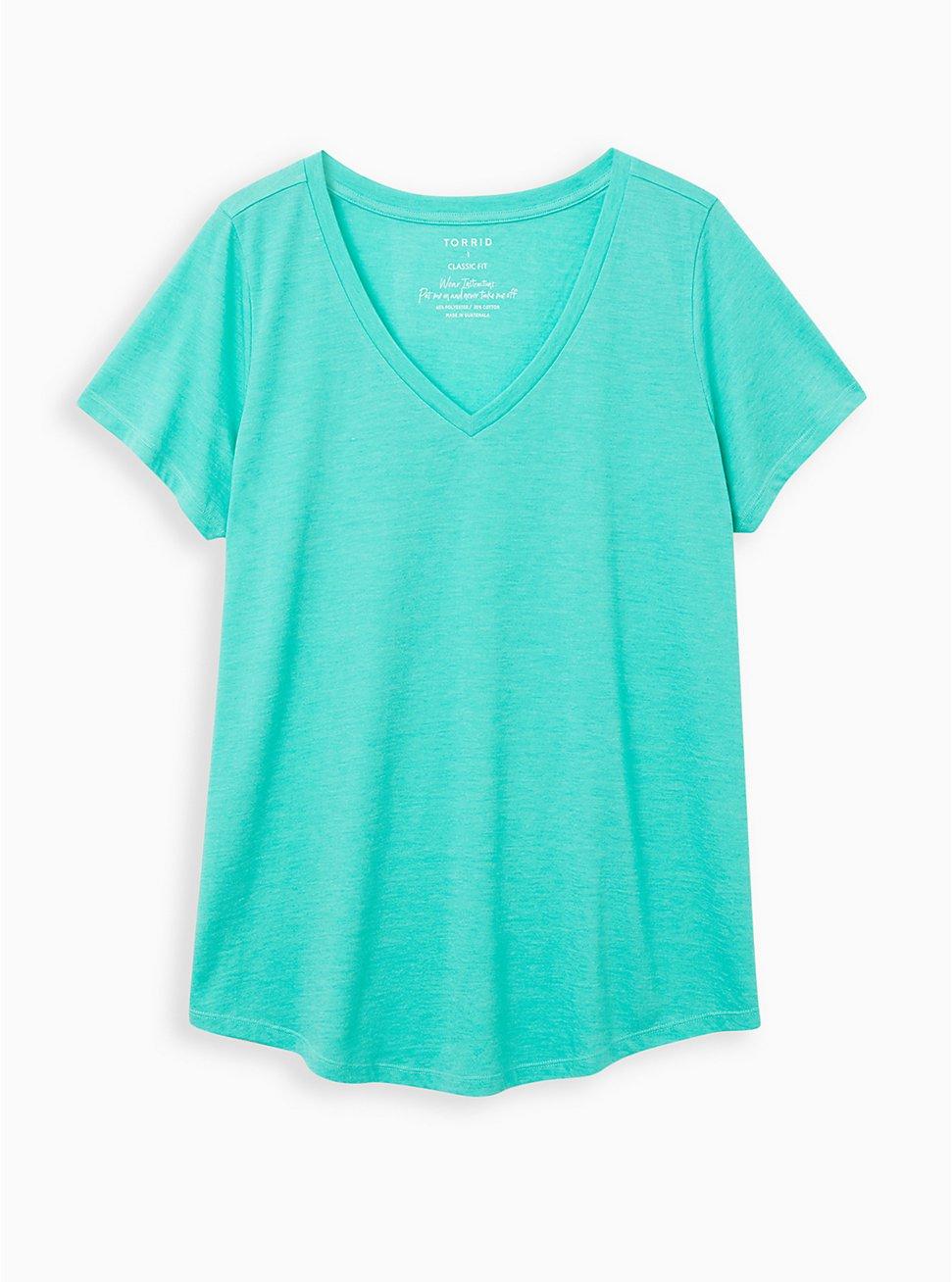 Girlfriend Tee - Signature Jersey Aqua Green, AQUA GREEN, hi-res