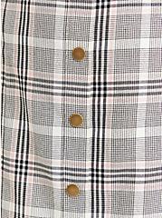 Skirt - Twill Plaid Grey, PLAID - IVORY, alternate