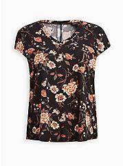 Dolman Top - Cupro Floral Black, OTHER PRINTS, hi-res