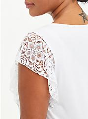 Flutter Sleeve Top - Super Soft White, BRIGHT WHITE, alternate