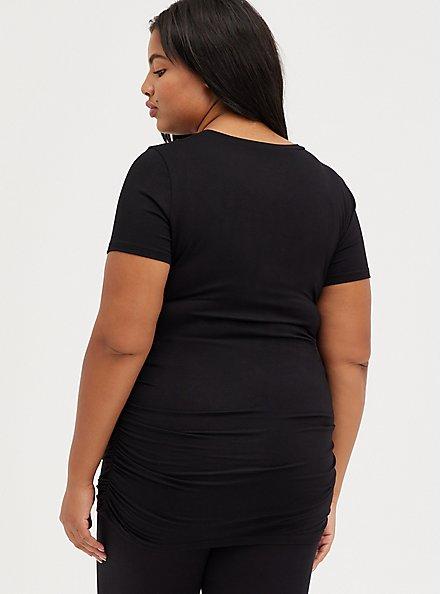 Ruched Tee - Super Soft Black, DEEP BLACK, alternate