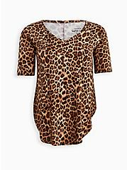 Plus Size Favorite Tunic Henley - Super Soft Leopard , LEOPARD, hi-res