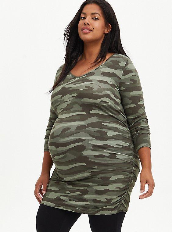 Maternity Tunic Tee - Super Soft Camo, OTHER PRINTS, hi-res