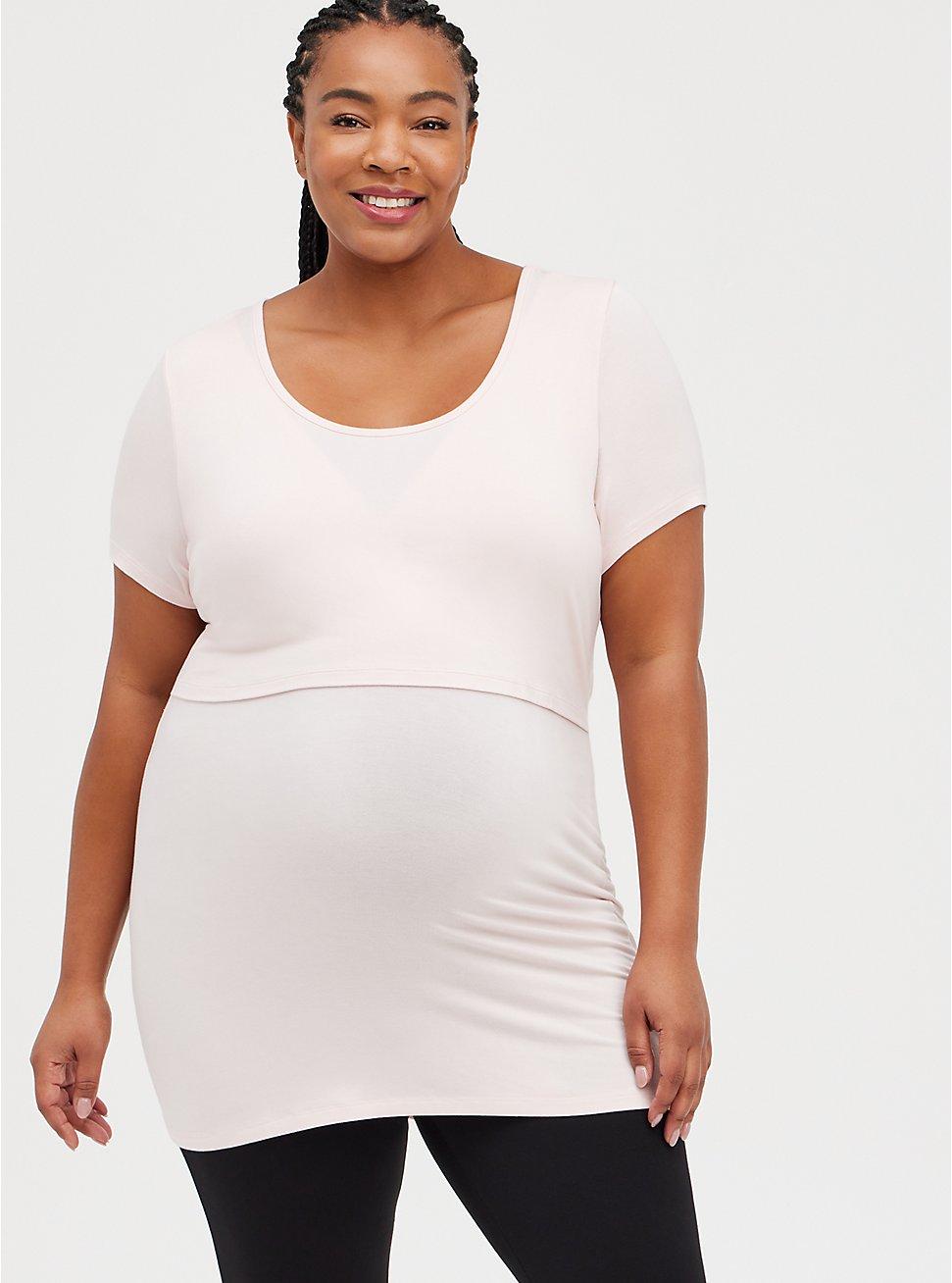 Maternity Nursing Top - Super Soft Pink, PINK, hi-res