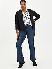 Plus Size Button Down Shirt - Twill Cheetah Dot White, DOT - WHITE, alternate