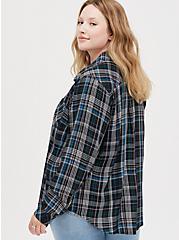 Button Down Shirt - Twill Plaid Black, PLAID - BLACK, alternate