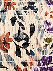 Cold Shoulder Blouse - Challis Floral Tan, , alternate
