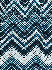 Cold Shoulder Blouse - Challis Chevron Tie-Dye Blue, TIE DYE-BLUE, alternate