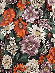 Ava - Soft Stretch Challis Floral Black Cami, FLORAL - BLACK, alternate