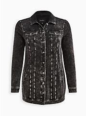Trucker Jacket - Everyday Fleece LoveSick Get Lost, DEEP BLACK, hi-res