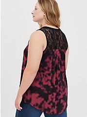 Lace Swing Tank - Super Soft Tie Dye Wine, OTHER PRINTS, alternate