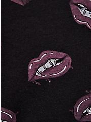 Vintage Tee - LoveSick Vampire Lips Black, DEEP BLACK, alternate