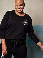 Sweatshirt - LoveSick Cute But Deadly Black, DEEP BLACK, alternate