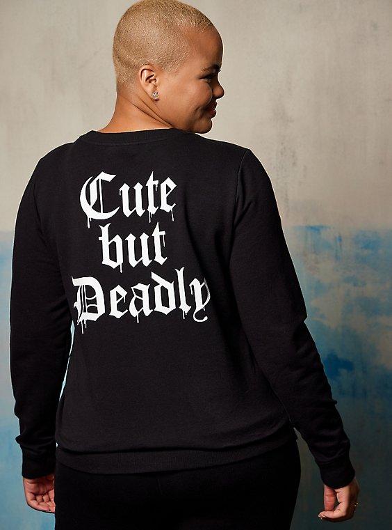 Sweatshirt - LoveSick Cute But Deadly Black, DEEP BLACK, hi-res