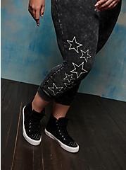 Jogger - Acid Wash LoveSick Star Skeleton Black, DEEP BLACK, alternate